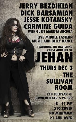 Jehan at the Sullivan Room Thurs Dec 3