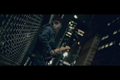 Night Player (- Loomax -) Tags: street city people urban playing newyork guy night guitar manhattan cinematic frontpage cinemascope theatredistrict guitaris