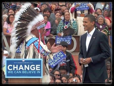 B. Obama and Native Americans