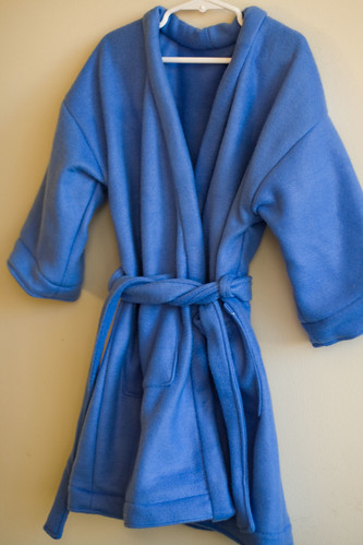 Lilly's blue robe