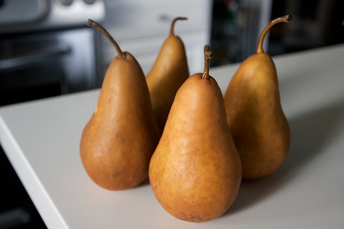 pears, about to get their asses poached!