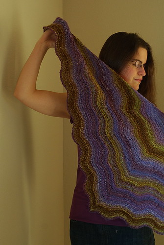 Plum Crazy Shawl