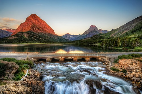 The Edge of Glacier National Park at Sunrise