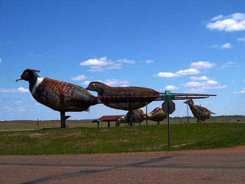 Enchanted Highway Pheasants on the Prairie