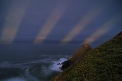 Light Speak / / / / Spoken Sky (Fort Photo) Tags: ocean light lighthouse composite oregon coast nikon experimental surf waves ray searchthebest head or beam coastal shore pacificnorthwest rays pnw enhanced beams seastack d300 hecetahead hecetaheadlighthouse imagestack tokina1116