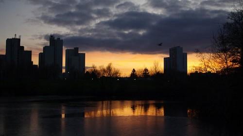 coucher de soleil aux Ulis.
