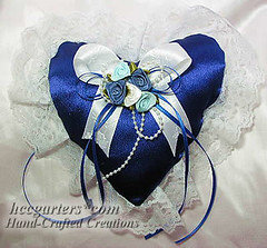 Royal blue heart  sachet (Victoria) Tags: handmade hcc scented ringpillow weddingpillow handcraftedsachets victoriajoanne