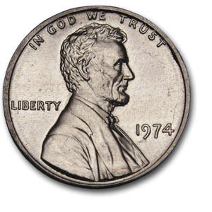 1974 Aluminum Cent