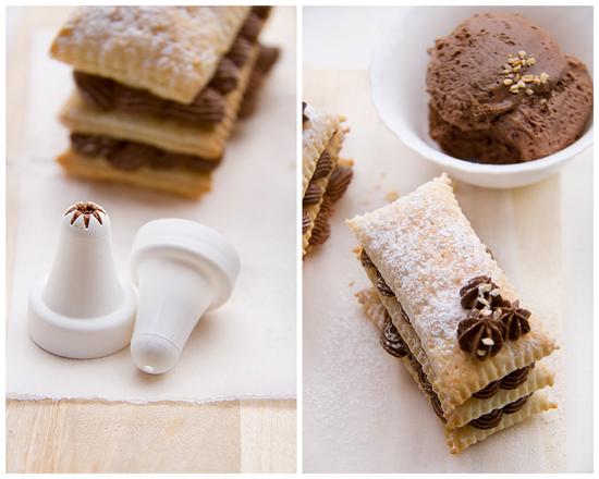 Feuilleté au chocolat collage