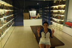 Stacey at the Mint Toy Museum in Singapore
