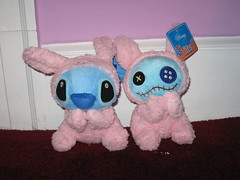 Stitch & Scrump as thoughtful bunnies