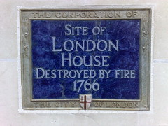 Photo of London House blue plaque