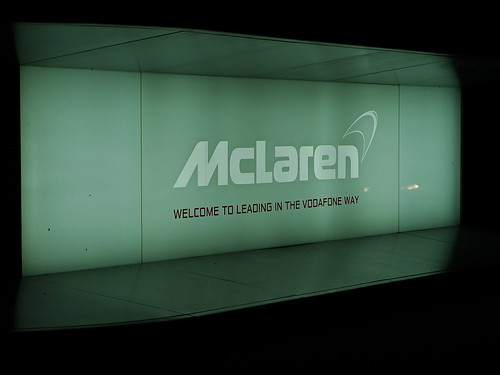 mclaren formula 1 logo. McLaren Formula 1 sign at