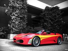 F430 Spider (aloysnap) Tags: sf red cars yellow silver spider singapore open walk top convertible ferrari spyder exotic di 37 rims rosso pista rare scuderia f430 supercars aftermarket millenia fiorano
