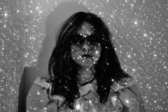 (Sofia Ajram) Tags: portrait blackandwhite girl stars lolita outerspace universe greyscale closedeye nikond80 sabrinaf sofiaajram miumachi