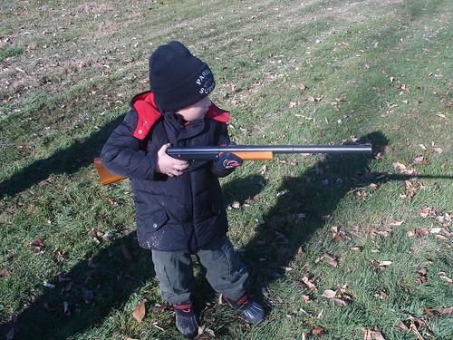 Mason shooting BB gun