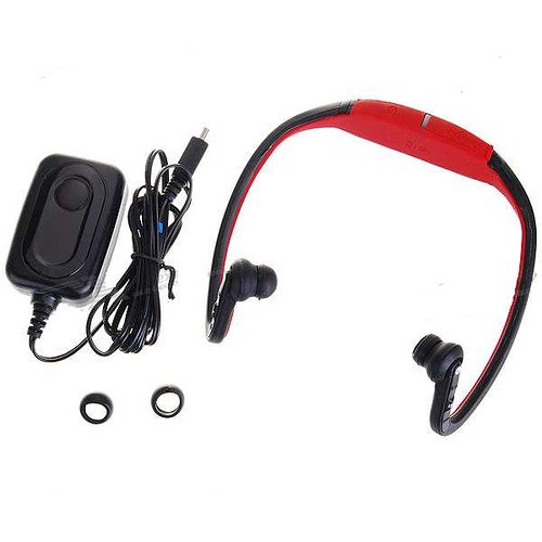 (Red) S9 Buletooth Stereo Headset Headphone