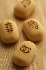 manju from nara (hanabi.) Tags: food cake japan pagoda sweet buddha tiger deer nara manju      fivestorypagoda       1300