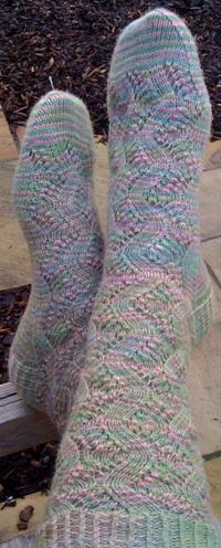 Spring Forward socks in Natural Dye Studio sock yarn