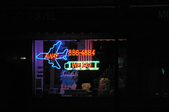 Away We Go (alankin) Tags: signs neon pennsylvania nikond70s nightshots glenside niknala 15jun2007 NeatImage:noise=reduce nikkorafvrzoom55200mmf456gifed 2100129bmu lastfm:event=153304