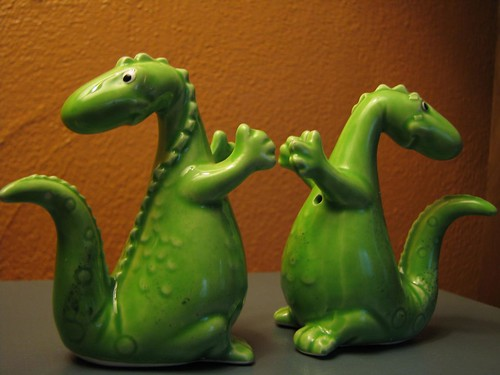 Dinosaur Salt and Pepper Shakers
