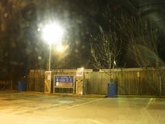 Petrol station at night..