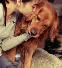 My Boy, My Best Friend, My Life (sprinkle happiness) Tags: dog goldenretriever haha abercrombie 50mmf18 chuppy idoubtthereforeimightbe waterkeh 52weeksfordogs 52weeksofchuppy selfieandchuppy