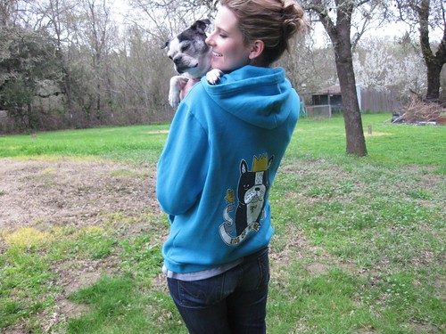 Tink & I modeling our All-Mighty hoodie