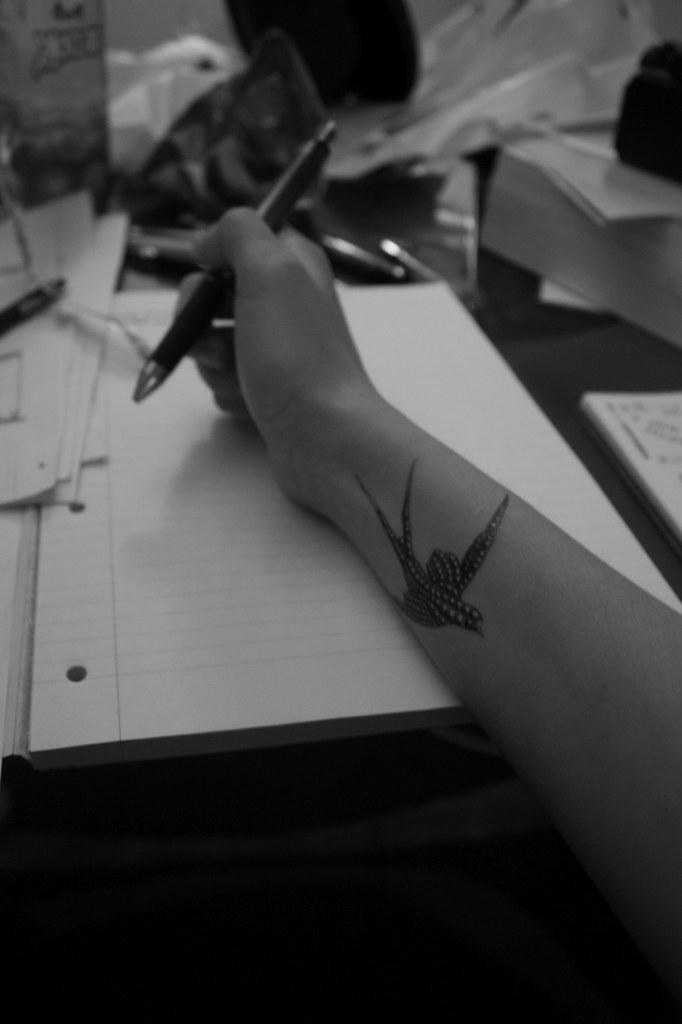 Shu's Chanel Tattoos bird