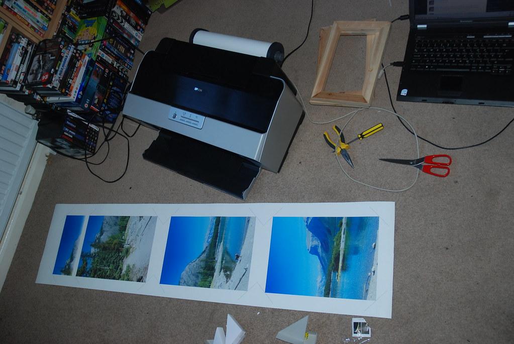3 panels printed
