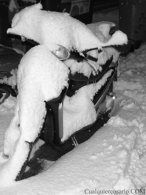 Amanecer blanco - refrigerando la moto