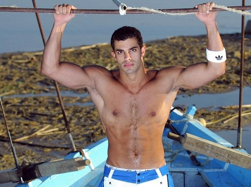 Mr. Egypt Tarek Naguib hot shirtless hunk