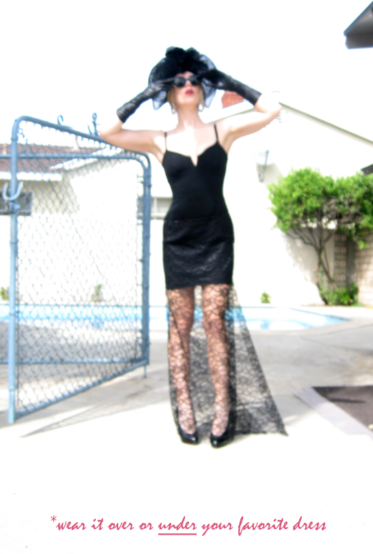 long sheer lace skirt -diy-10