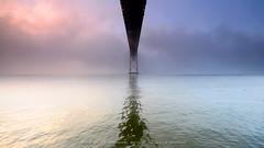 "Under the Bridge series: R G B (Paulo ""Santa Cruz"" Dias) Tags: bridge santacruz portugal fog lisboa lisbon abril ponte 25 alcntara ilustrarportugal paulodias gettyimagesspainq1"