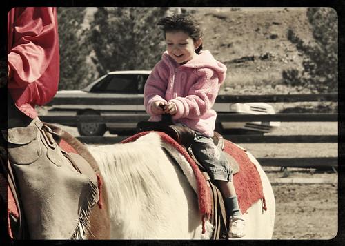 Mickey on Horse