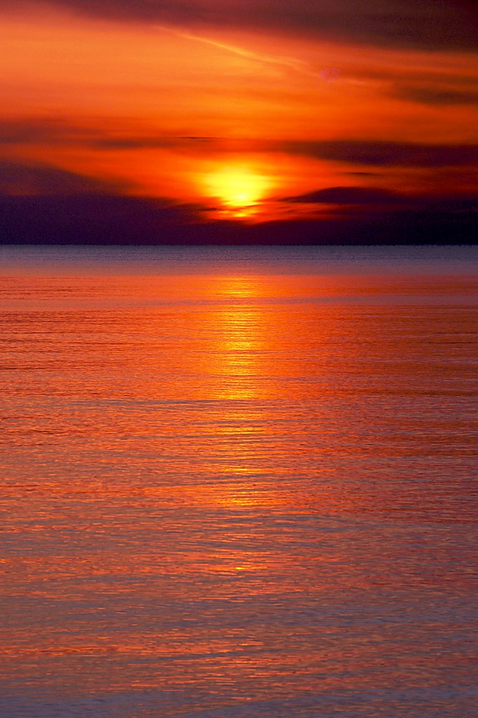 Sunset over Lake Superior.