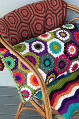 hexagon pillow (rettgrayson) Tags: wool lucy crochet pillow hexagon colourful attic24