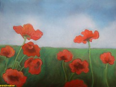 amapolas salvajes - wild poppies (minidreamer ) Tags: flowers red wild espaa flores art beauty painting rouge spain rojo artwork europa europe bellasartes 2000 arte pastel fineart pastels poppies belleza pintura sauvages amapolas pastelpainting softpastels pasteles coquelicots softpastel 00s salvages wildpoppies europeanpaintings dscw300 pinturaalpastel amapolassalvajes pinturaseuropeas coquelicotssauvages