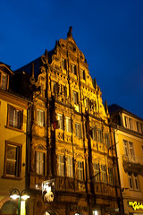 The oldest Building in Heidelberg (Nataraj Metz) Tags: night germany deutschland nacht heidelberg deu posterized badenwrttemberg 5photosaday hauszumritter 5halloffame arethesebuildings