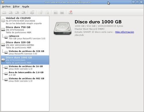 Palimpsest, monitor de discos duros.