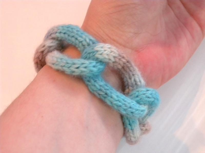 I-cord Chain Bracelet - back