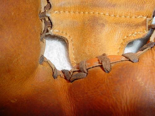 Wilson Baseball Glove Repair A2760 - before