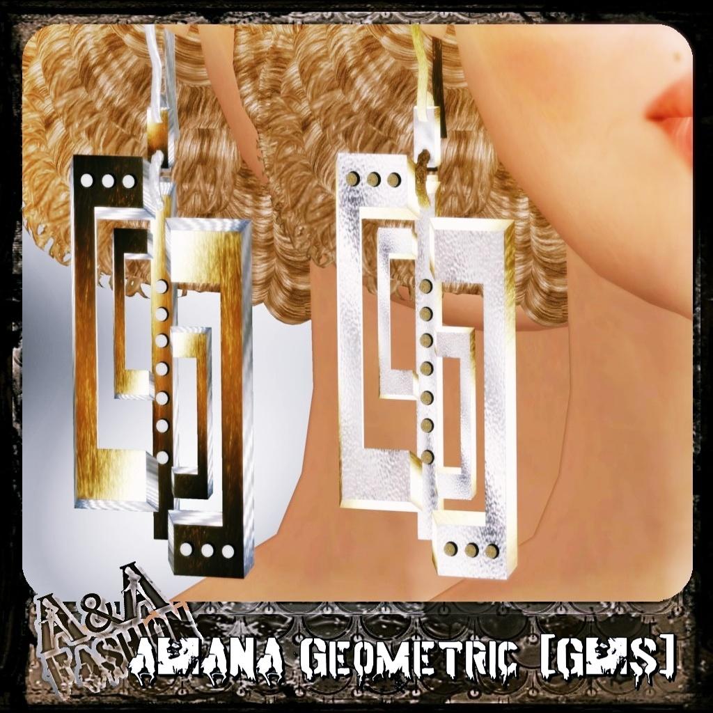 A&ANA Earrings Geometric [GOLD&SILVER]