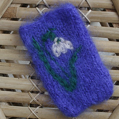 Snowdrop - gadget cosy (Lynwoodcrafts) Tags: flower floral wales knitting mohair knitted embroidered snowdrop phonecover ipodpouch phonecosy mobilephonecosy ipodcosy ipodcover fulled phonecase madeinwales mobilephonecase mobilephonecover gadgetcosy
