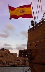 Spanish Galleon (|||*Sue*||| perishableperspectives) Tags: wood old sea sky century andaluca marine ship waterfront vessel rope andalucia replica spanish maritime ropes 17th valletta galleon galen