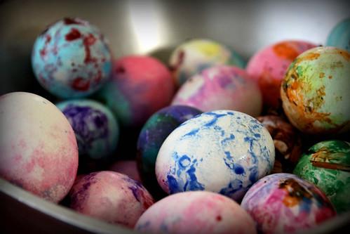 pastel pallet easter eggs