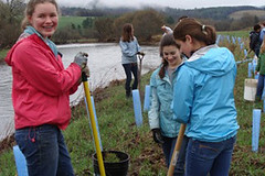 Elizabeth, Marissa, and shelby reforesting