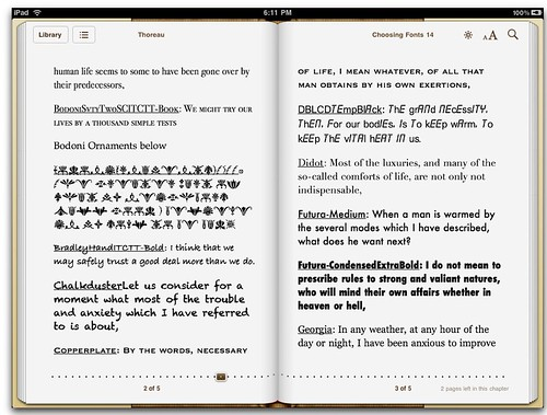 More fonts for iPad eBooks 2