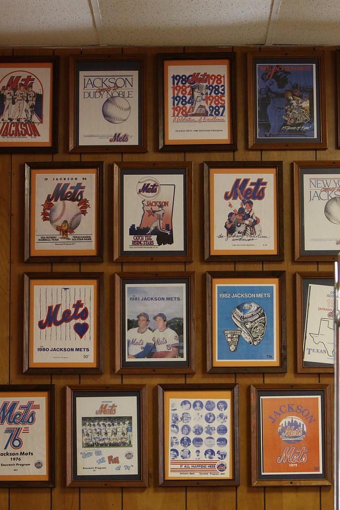 Jackson Mets programs at Lamar Restaurant