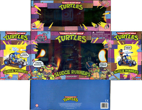 Teenage Mutant Ninja Turtles 'SLUDGE RUNNERS' :: LEONARDO ..box i (( 2010 ))